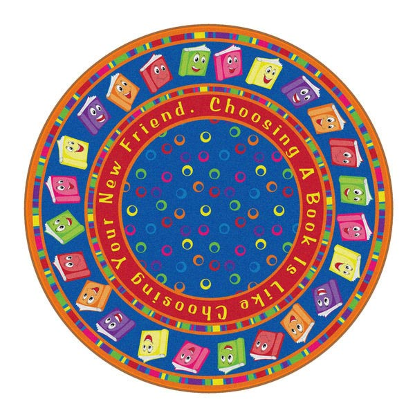 fe338-85a-circle-time-books-carpet-bright-6-round