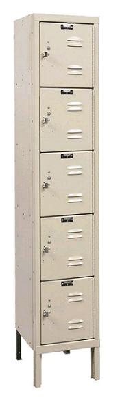 u1226-5a-premium-five-tier-1-wide-lockers-assembled-12-w-x-12-d-x-12-h