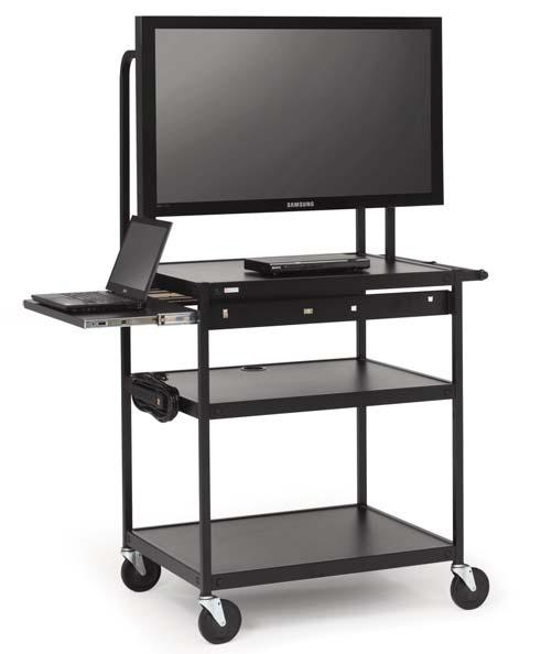 fp60mul-p5bk-flat-panel-cart-w-pull-out-shelf-52-monitor