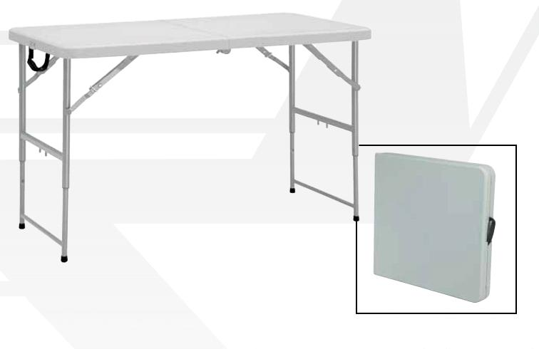 Attractive Fold In Half Plastic Resin Folding Tables By