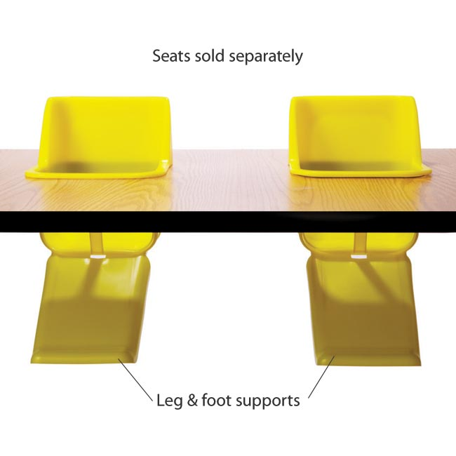 Plastic Leg And Foot Support For Toddler Table By Toddler Tables, FOOTSPT    Stock #79019