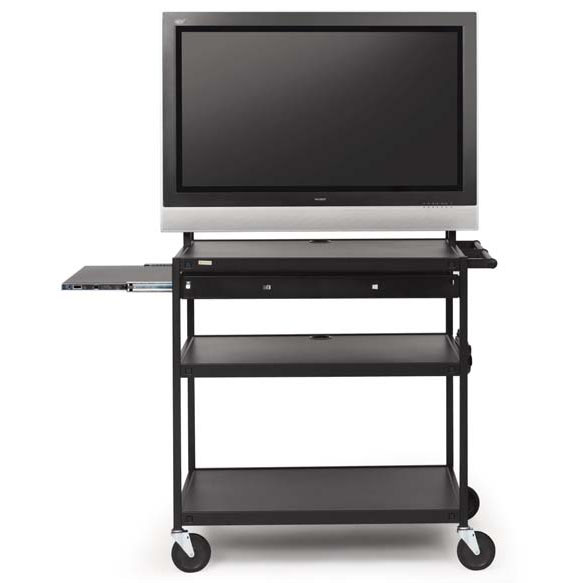 fp42mul-p5bk-flat-panel-cart-w-pull-out-shelf-42-monitor