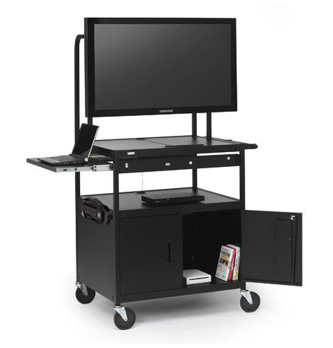 fp42mulc-p5bk-flat-panel-cart-w-cabinet-pull-out-shelf-42-monitor