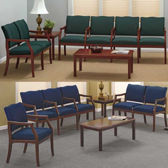Lesro Franklin Series 2 Chairs W Connecting Center Table