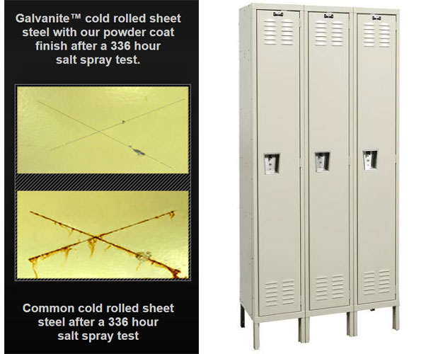 Galvanite Rust Resistant Metal Lockers