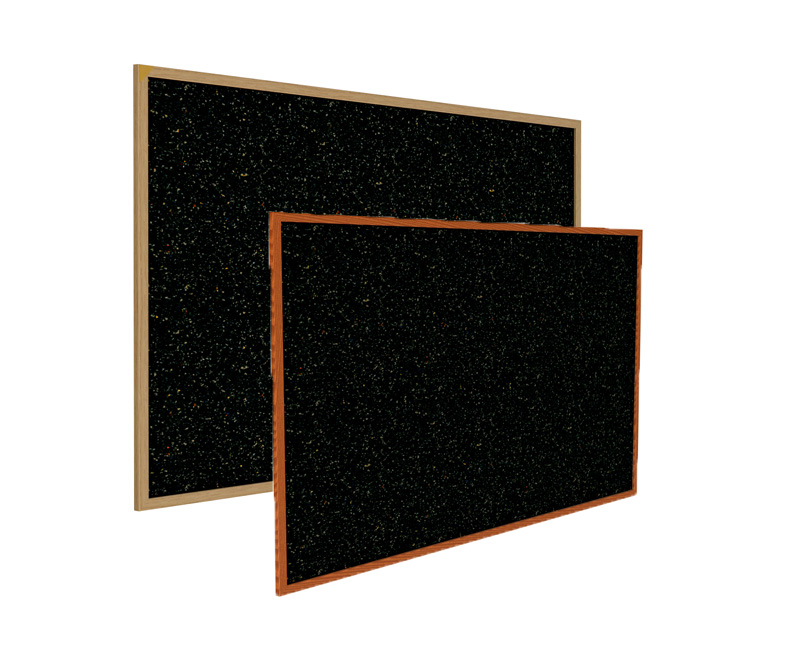 Recycled Rubber Bulletin Board w/Wood Frame by Ghentr