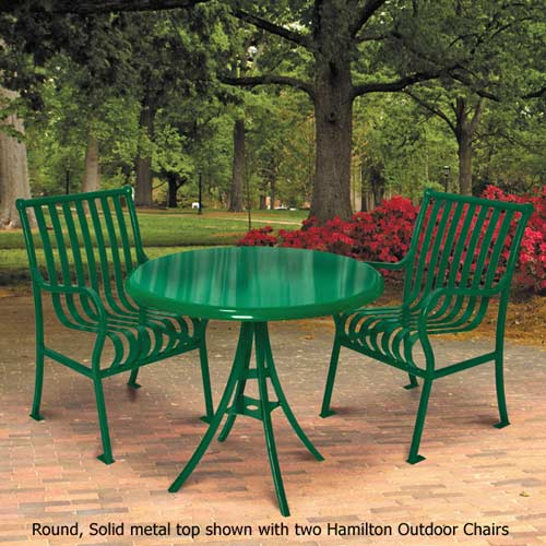 Https Www Worthingtondirect Com Outdoor Furniture 364 Rdsd Hamilton Outdoor Round Table Solid Metal Top Htm