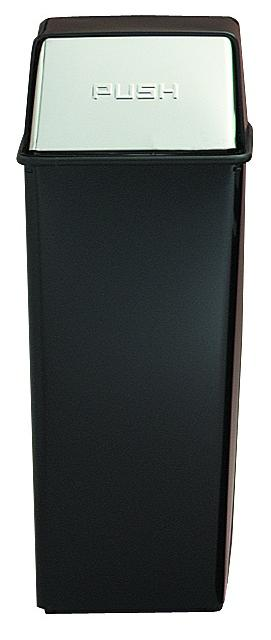 21ht-22-monarch-series-hamper-top-receptacle-black-w-chrome-push-doors