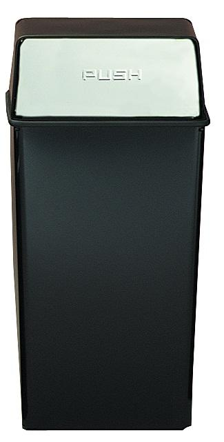 36ht-22-monarch-series-hamper-top-receptacle-36-gallon-black-w-chrome-push-doors