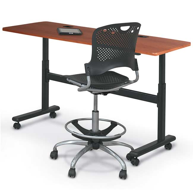 Balt Adjustable Height Flipper Table Rectangle W X D X - Adjustable height training table