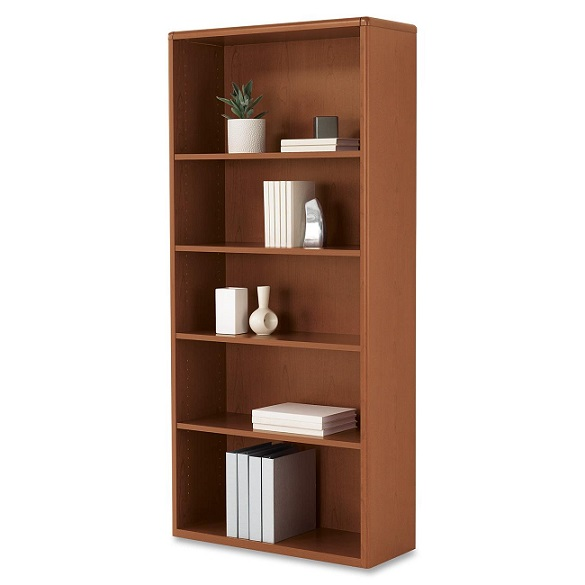 h107569-small-footprint-bookcase-w-5-shelves