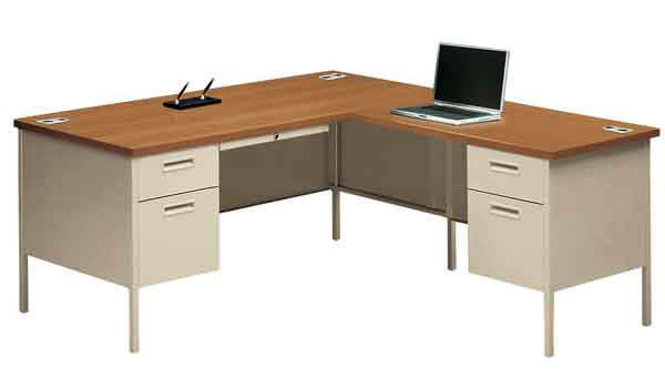 hon desk desks office contemporary double pedestal mo