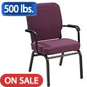 Click here for more Tall Wing Back Oversized Padded Stack Chairs with Arms by KFI by Worthington