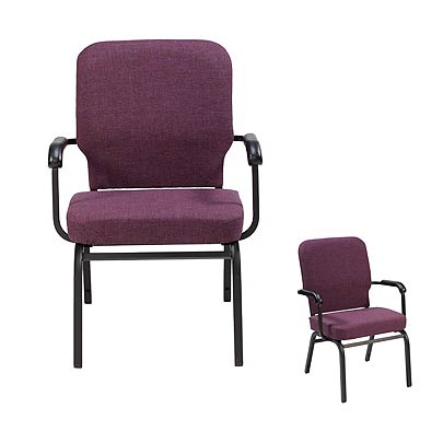Awesome Htb1041 Tall Wing Back Oversized Padded Stack Chair