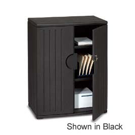 92563-36wx22dx46h-platinum-resinite-storage-cabinet-with-locking-doors-2-fixed-shelves