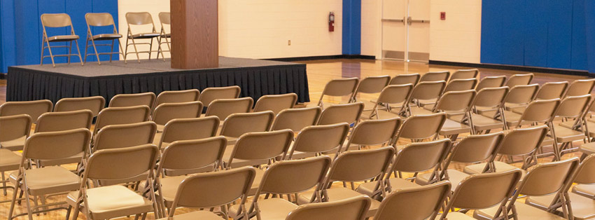 Folding Chairs used during an indoor event