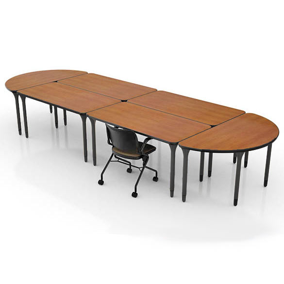 Inquire Activity Table X Half Round By KI IQHSSB - Half circle conference table