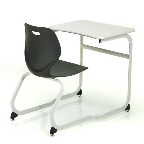 ki intellect wave double entry classroom desk iwdeh combo chair