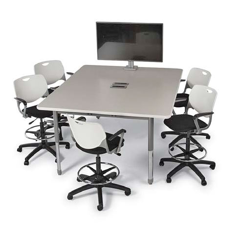 Interchange Rectangle Multimedia Table