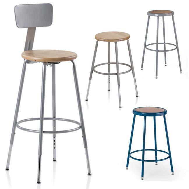 All Colorful Hardboard Seat Stools By Ki Options Stools