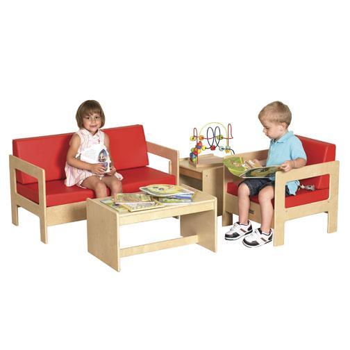 Ecr4kids living room set 4 pieces elr 0680 dramatic for Kids living room furniture