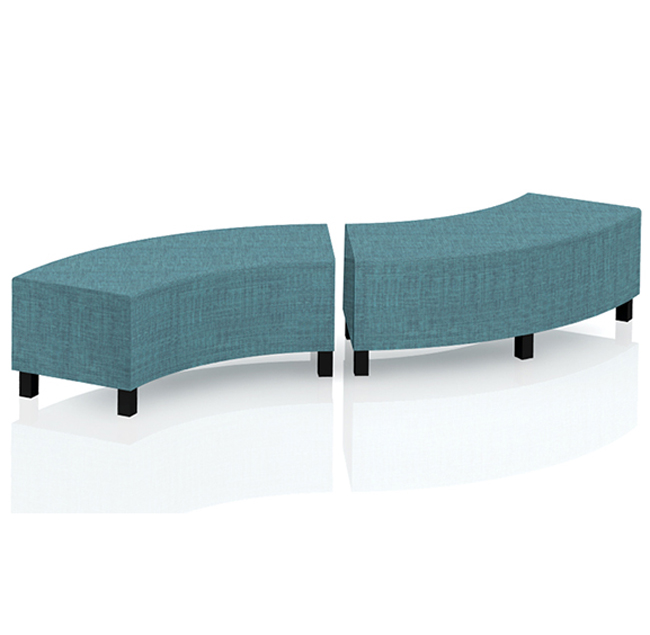 Super Mien Flex Soft Seating Curved Bench - Grade 1 Upholstery - Flx  BH48