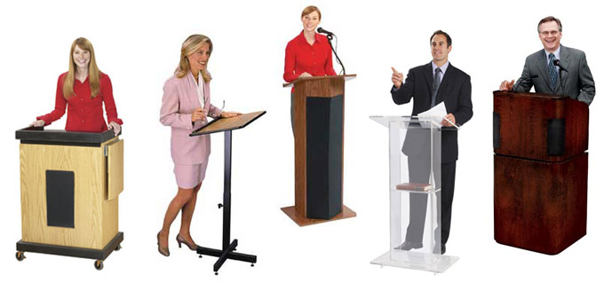 Lectern and Podium Speaker Stand Types