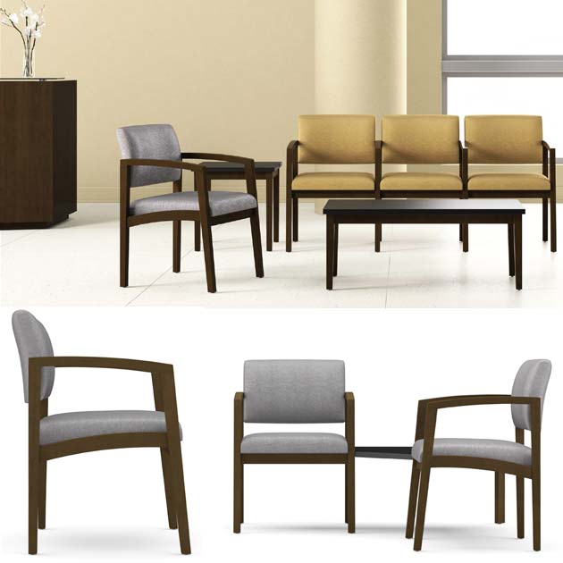 All Lenox Open Arm Series Reception Seating By Lesro