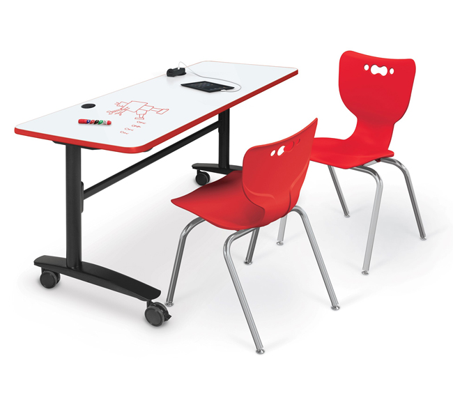 Lumina Flipper Folding Table with Dry Erase Top by Balt