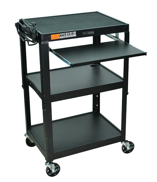 avj42kb-adjustable-height-metal-cart-w-keyboard