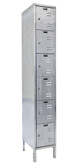 uss1888-6a-stainless-steel-six-tier-1-wide-locker-assembled