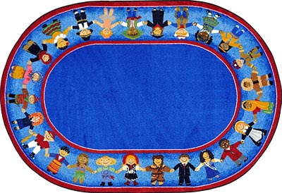 1622-cc-children-of-many-cultures-carpet-54-x-78-oval