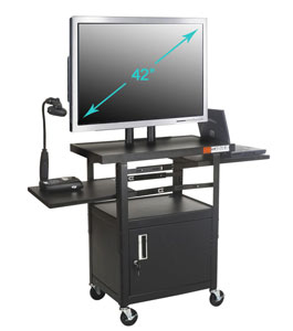 27530-4662h-adjustable-flat-panel-tv-cart-with-locking-cabinet