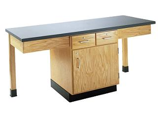 2202k-twostudent-science-table-chemguard-top-w-door-drawers