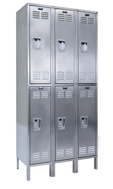 uss3888-2a-stainless-steel-double-tier-3-wide-locker-assembled