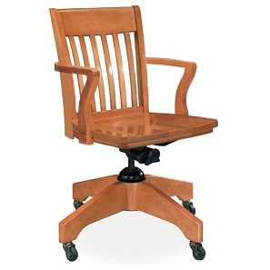 300a-americana-solid-oak-swivel-chair-w-arms