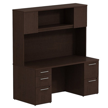 300s044xx-realize-series-double-pedestal-desk-whutch-66-w-x-30-d