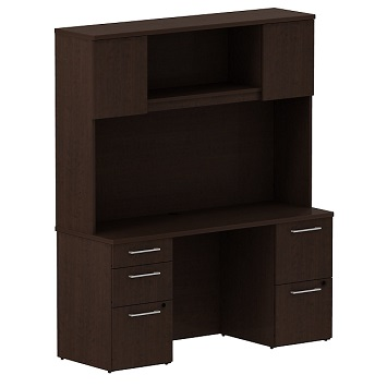 300s060xx-realize-series-double-pedestal-desk-whutch-60-w-x-22-d