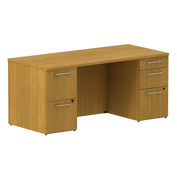 300sddp66xxk-realize-series-double-pedestal-desk-66-w-x-30-d