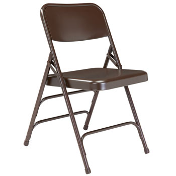 303-brown-18-gauge-steel-double-hinge-triple-braced-folding-chair