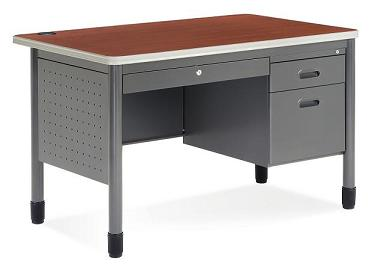 66348-single-pedestal-teacher-desk-by-ofm