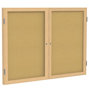pw24860k-48hx60w-two-door-oak-frame-enclosed-bulletin-board