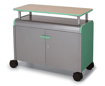 30214-cascade-series-twoshelf-mobile-presentation-cart-w-door-4258-w-x-19-d