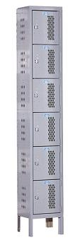 u1258-6hv-a-heavy-duty-ventilated-six-tier-1-wide-locker-assembled-12-w-x-15-d-x-12-h