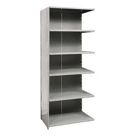 a472118-mediumduty-closed-shelving-adder-unit-w-6-shelves-48-w-x-18-d