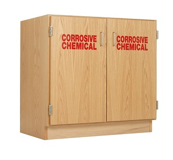 Corrosive Chemical Storage Cabinet By Diversified Woodcrafts