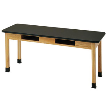 c7101k30n-24d-x-48w-black-laminate-top-oak-science-table-with-book-compartment