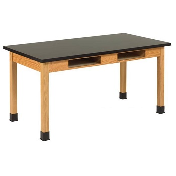 c7406k30n-solid-epoxy-resin-top-hardwood-science-lab-table-with-compartments-42-d-x-72-w