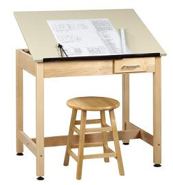dt2a30-drafting-table-w-1piece-top-small-drawer-30-h