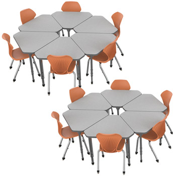 38371-classroom-set-12-apex-gem-desks-12-stack-chairs-14-pumpkin-spice-closeout